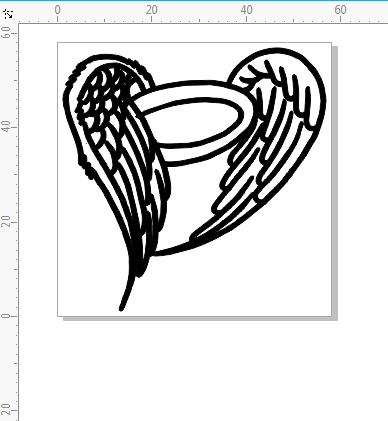 Angel wings small could be used for card approx 65mm x 65mm pack